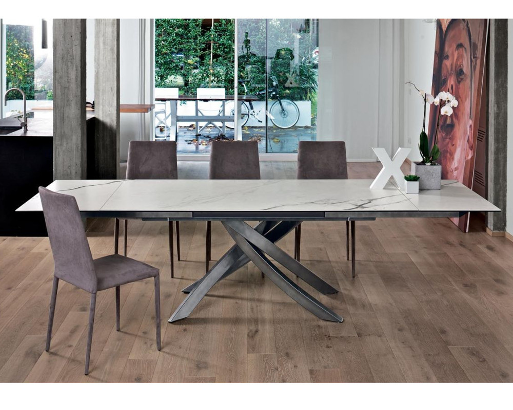 Buy Artistico Extending Marble Dining Table Online In
