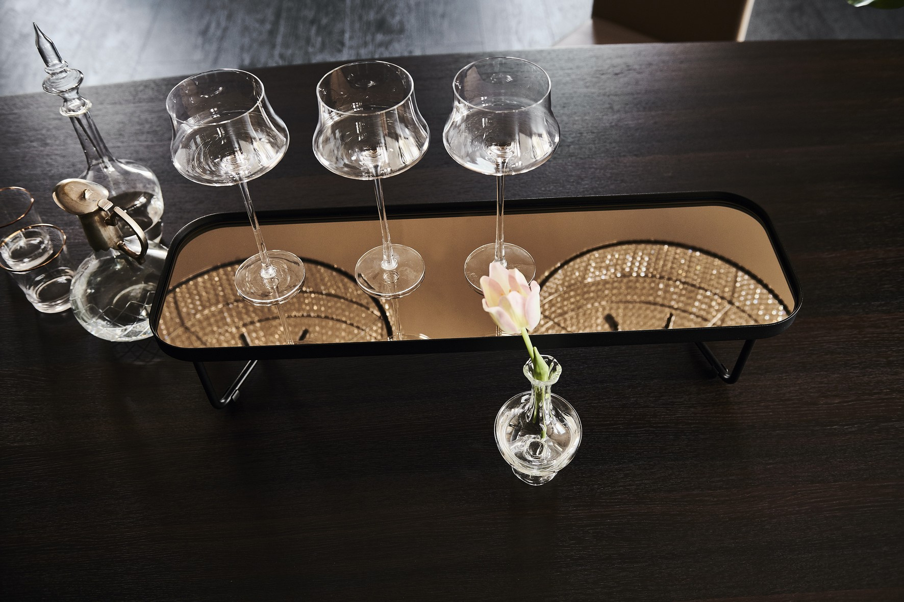 Benny Rectangular Glass Coffee Table