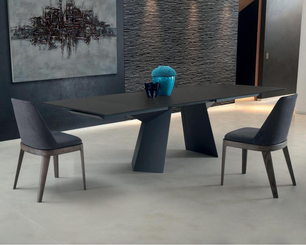 Fiandre Glass Extending Dining Table