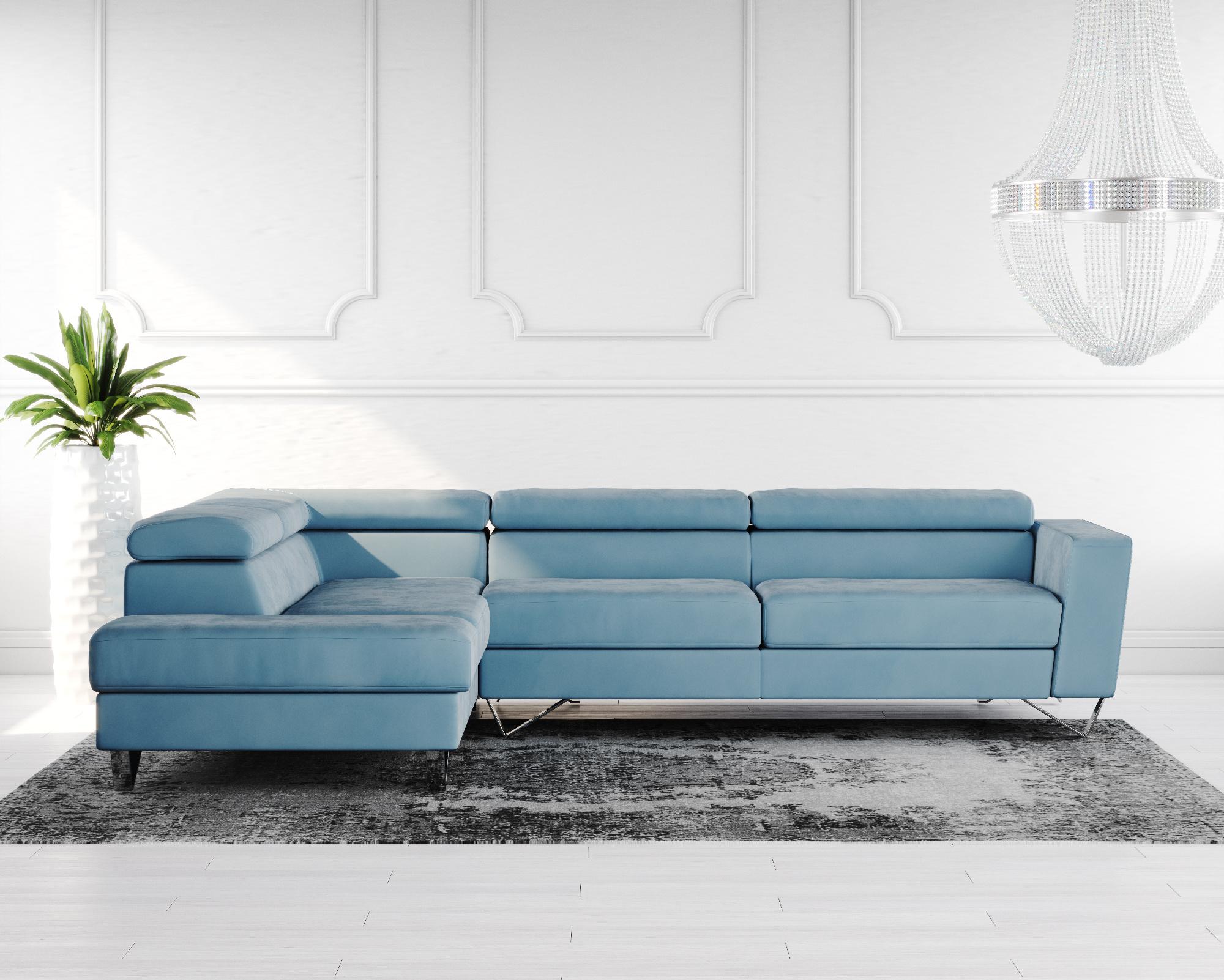 Brook Fabric Corner Sofa