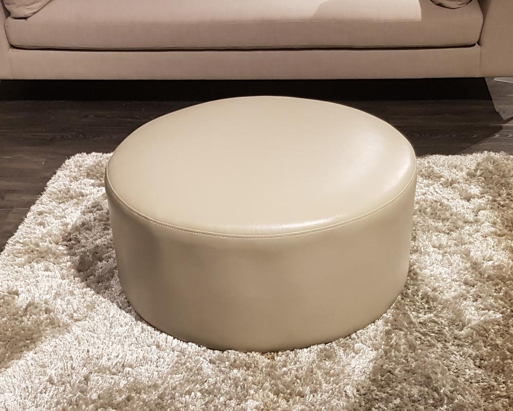 Biscuit Round Footstool - EX DISPLAY