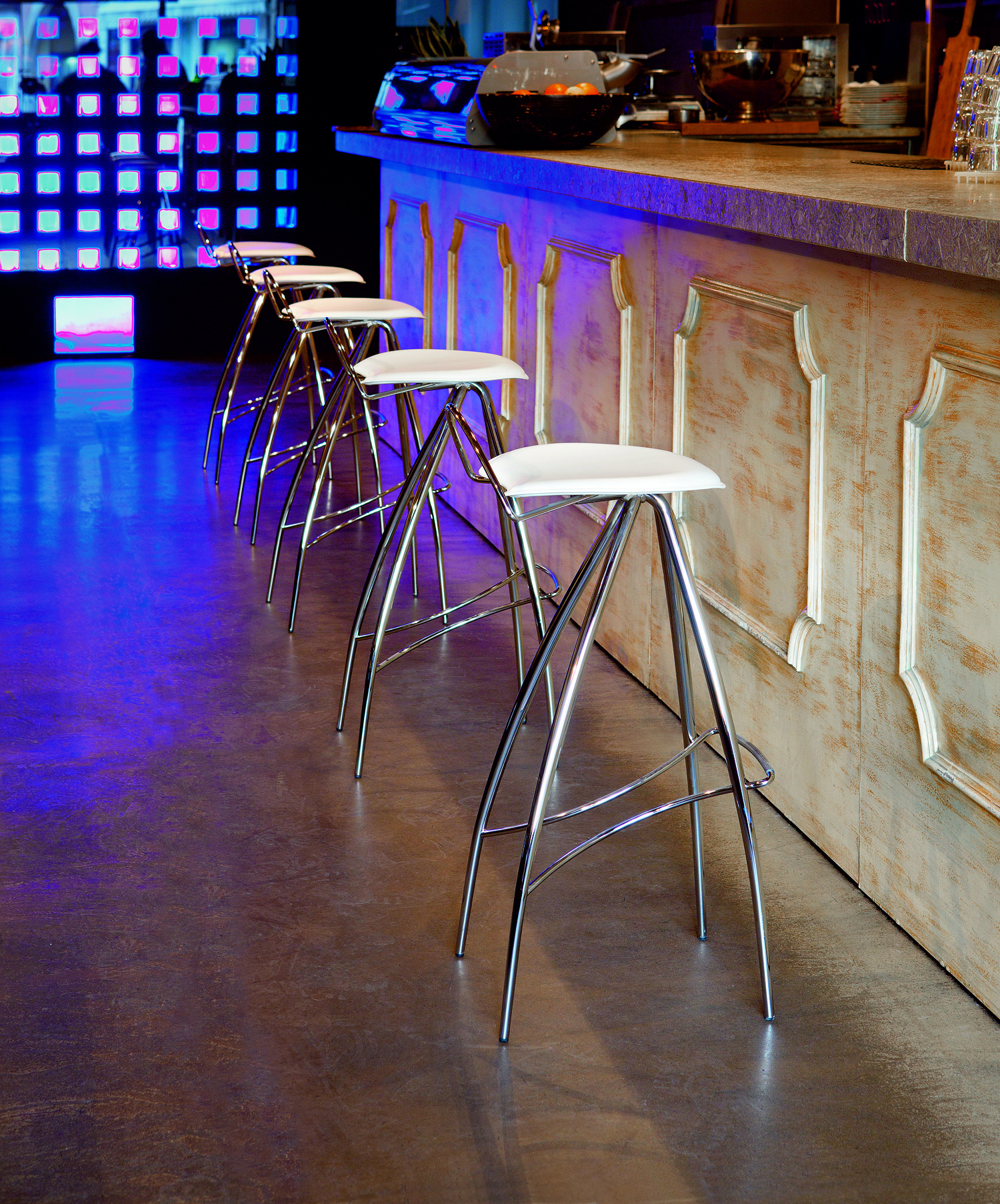 coco bar stool chrome bar stool leather bar stool cattelan i