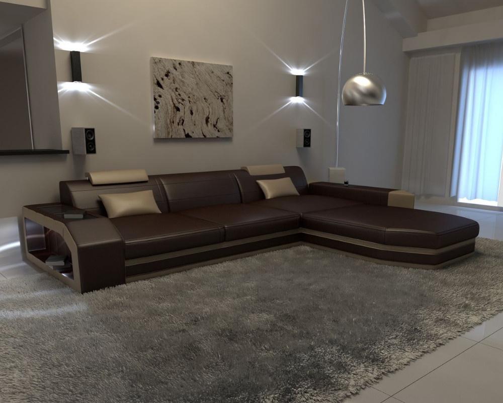 Concept Leather Corner Sofa