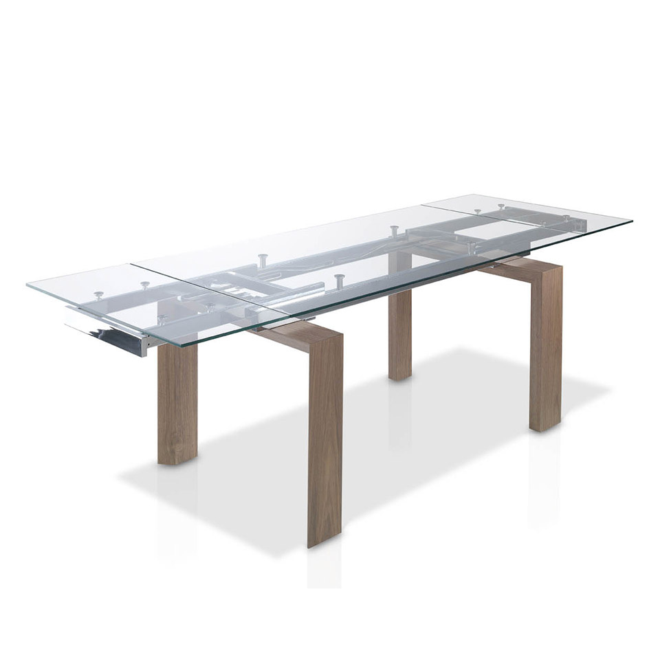 Baron extending dining table large designer dining table for Designer extending dining tables
