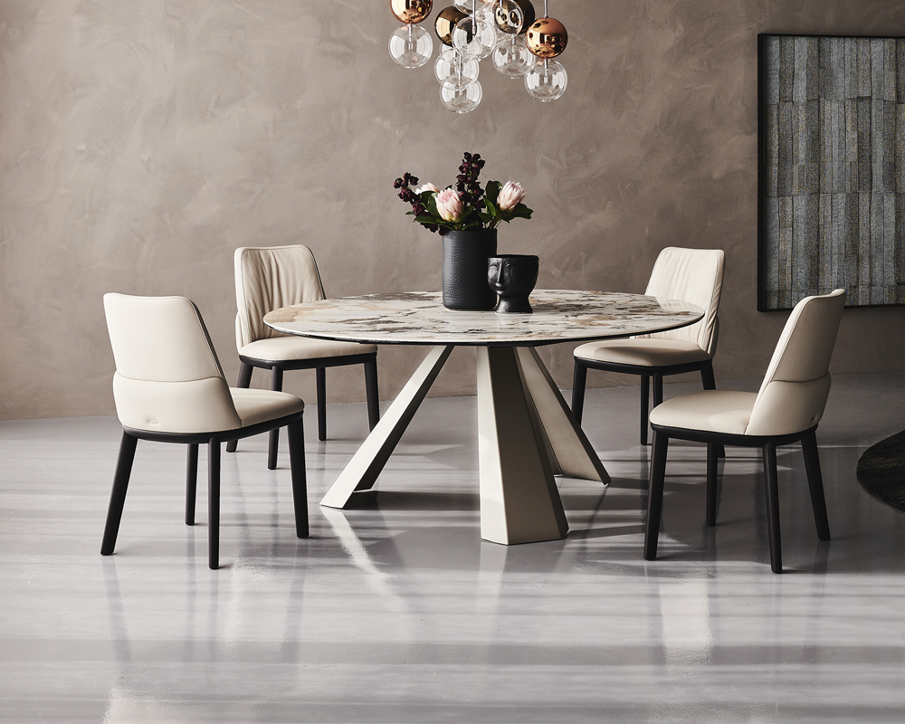 Edward Keramik Round Dining Table
