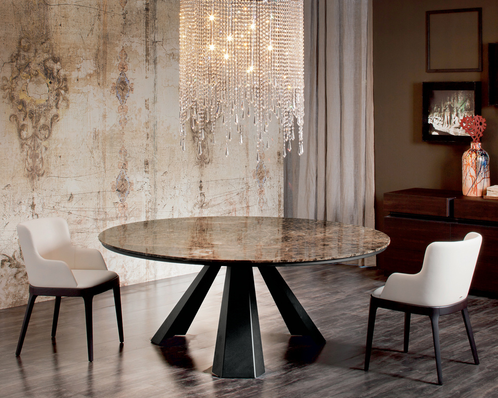 Edward Round Marble Dining Table