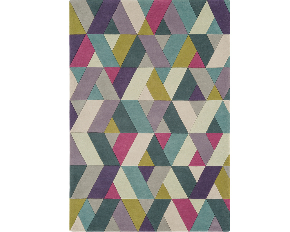 Funk Chevron Blue Green Rug