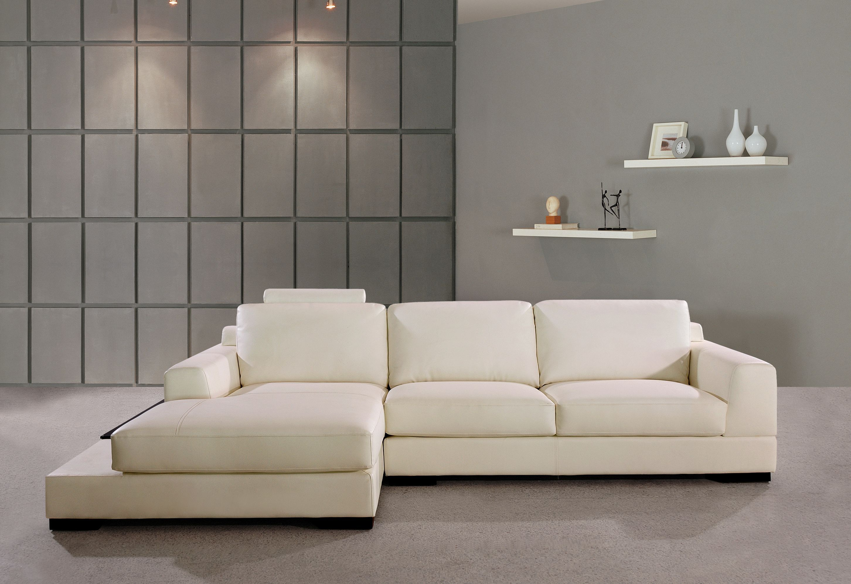 Gino Leather Corner Sofa