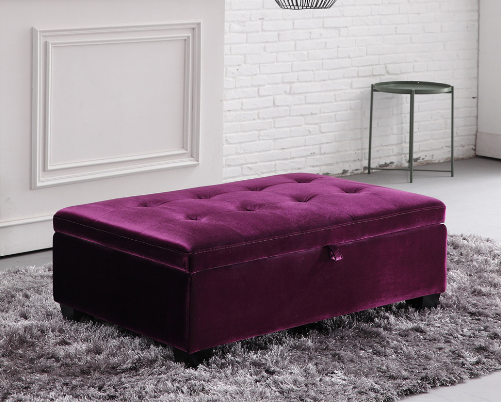 Hugo Storage Footstool (Smoke Grey) - BRAND NEW