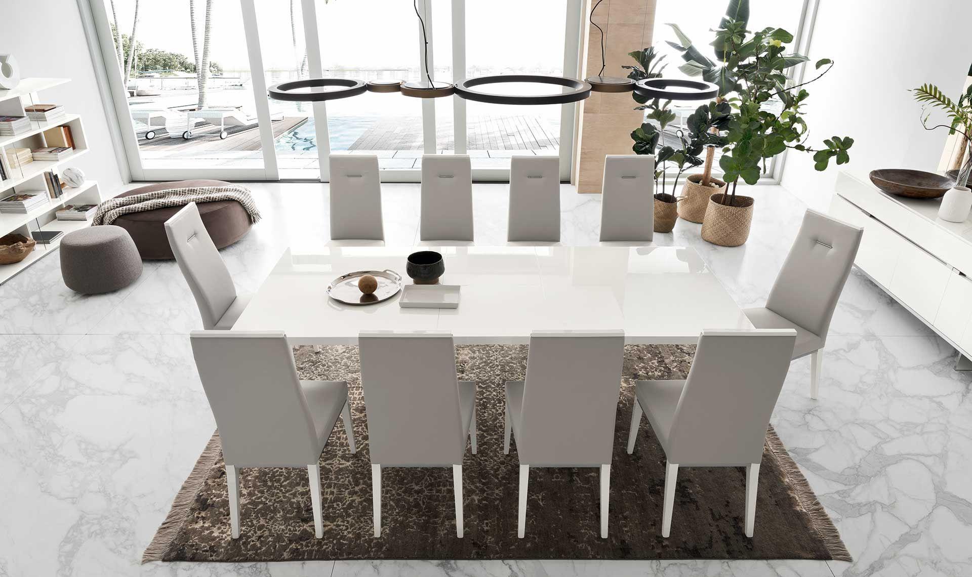 Isla White Gloss Extending Dining Table