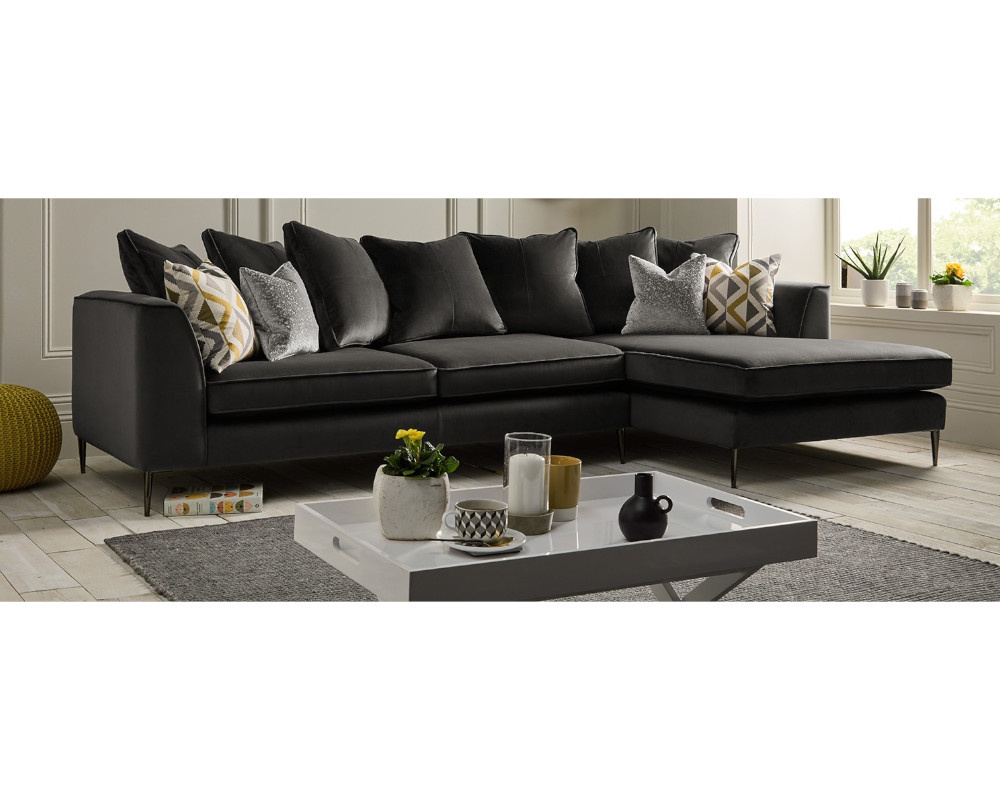 Lauren Pillow Back Chaise Corner Sofa