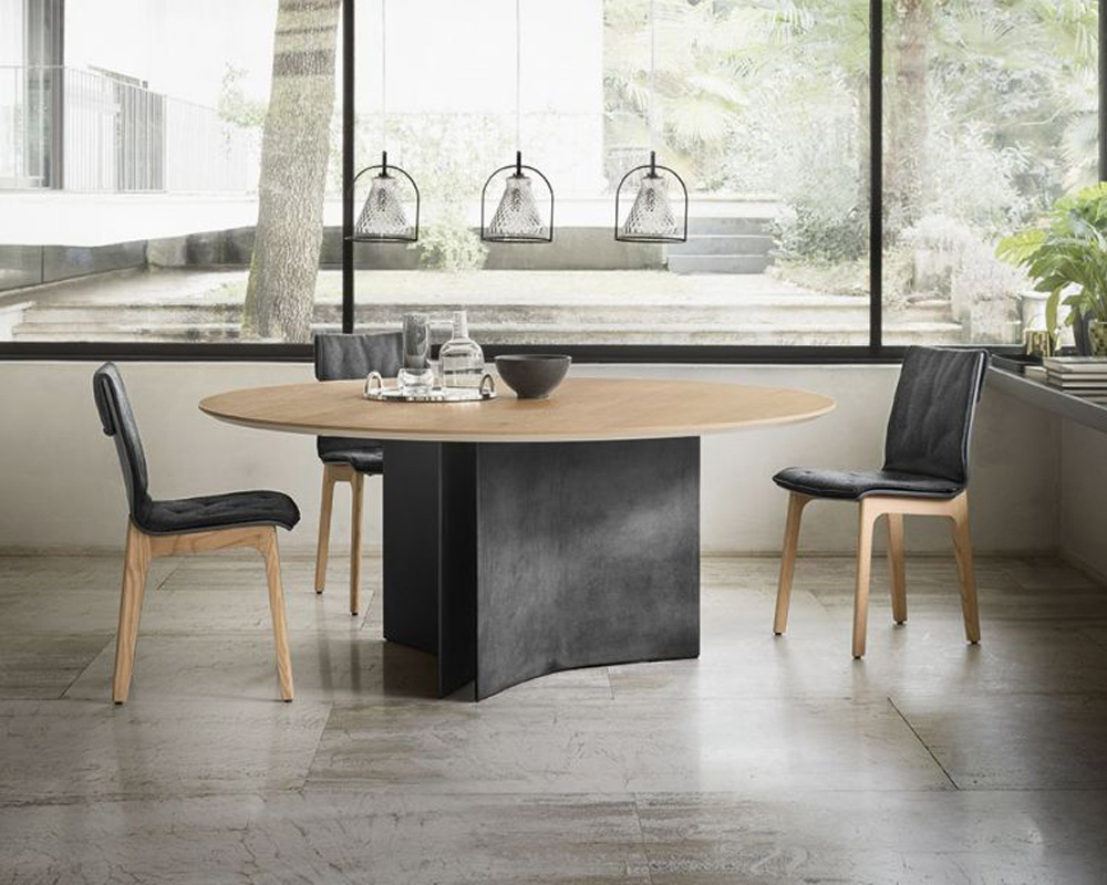 Magnum Wood Round Dining Table