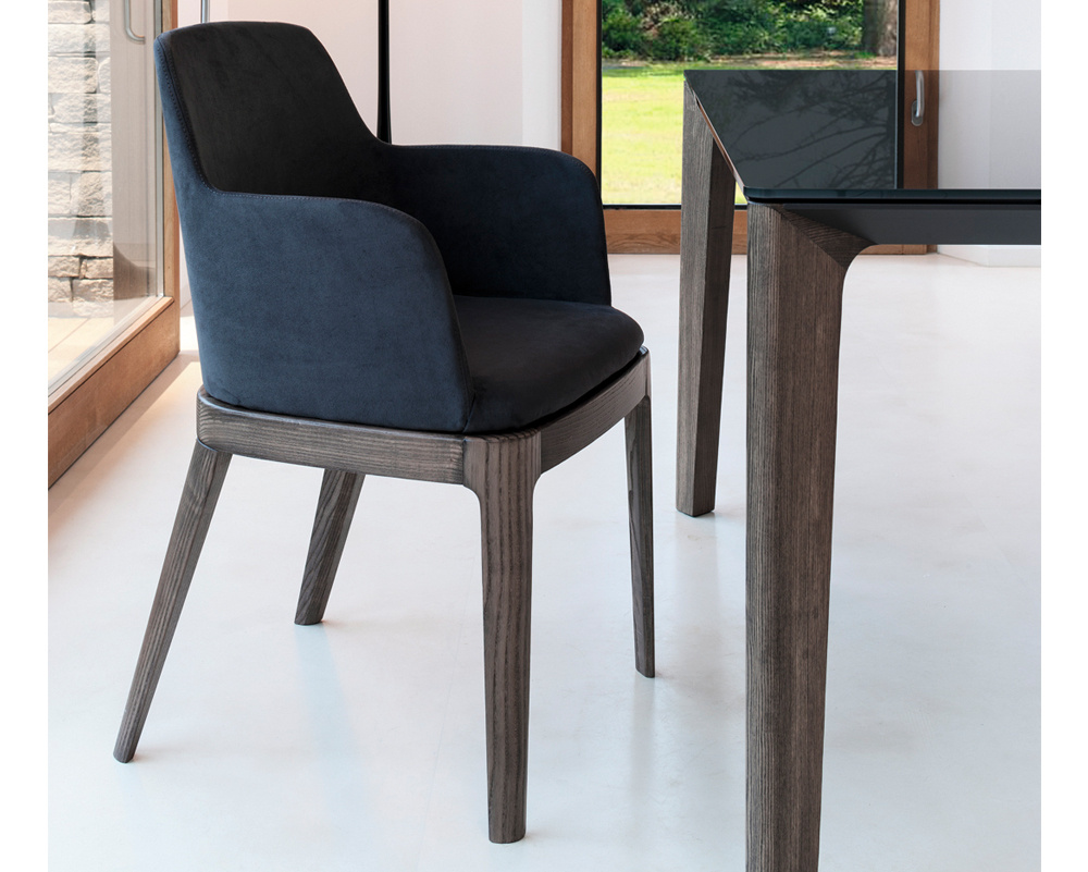 Margot  Carver Chair - Wood Legs