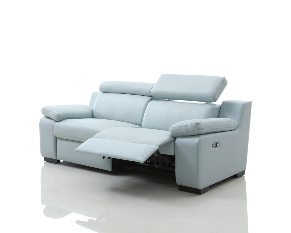Marlon Leather Electric Recliner Sofa with Power Headrests