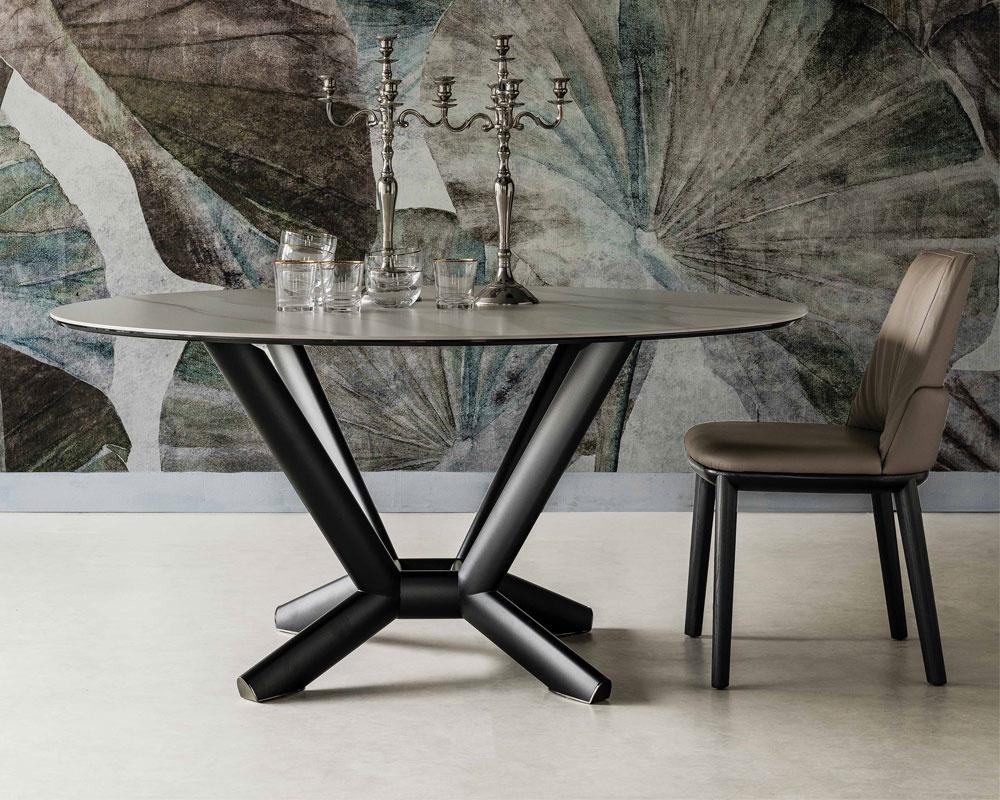 Planer Keramik Round Dining Table