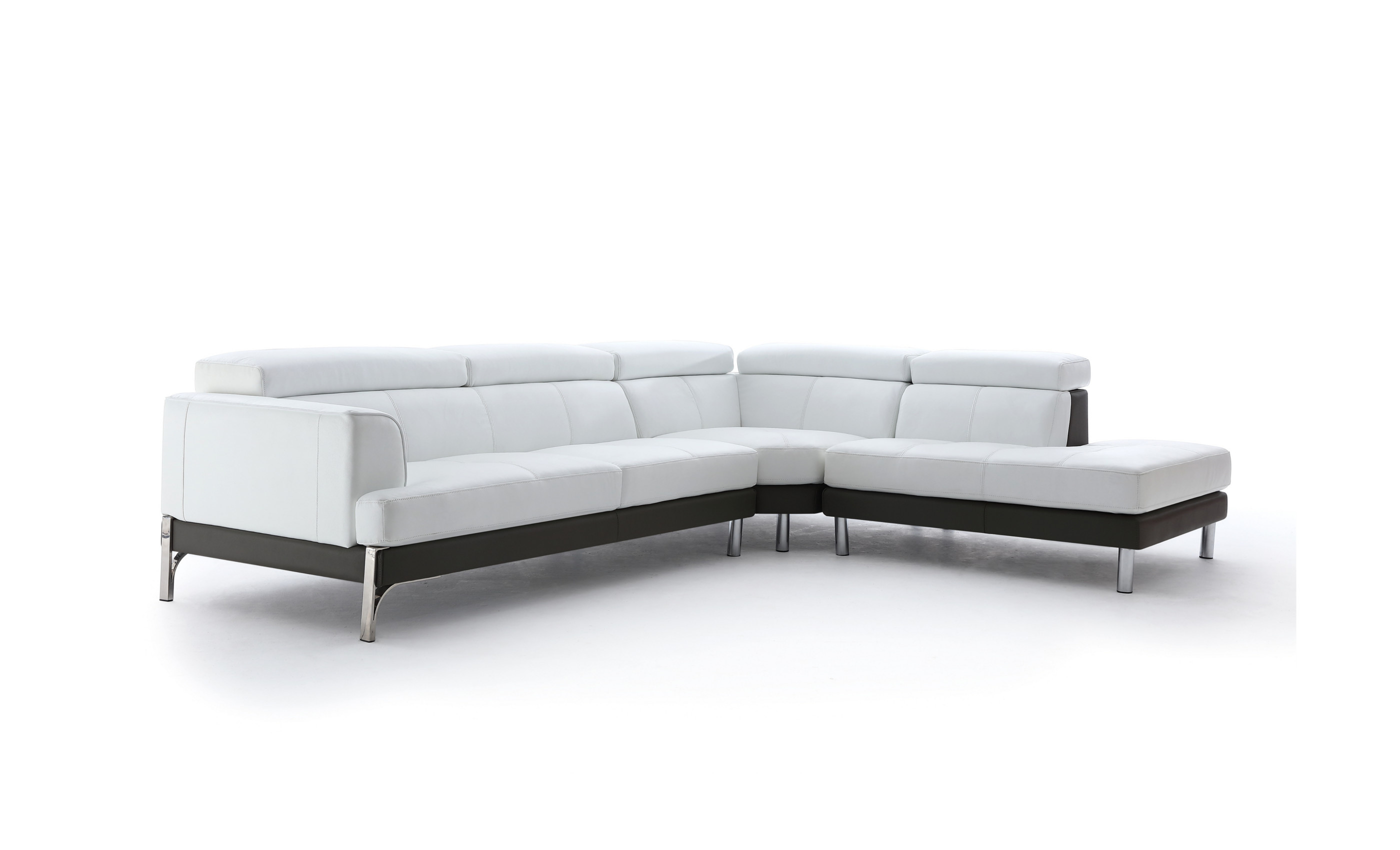 Plaza Leather Corner Sofa