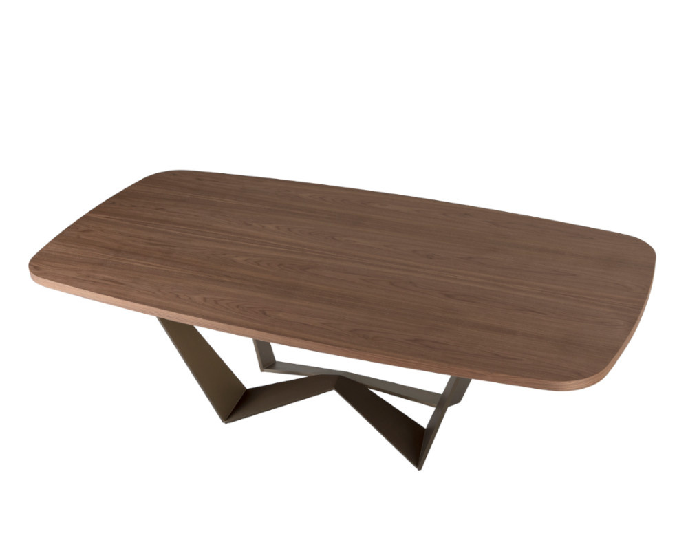 Reverse Wood Dining Table Shaped Top