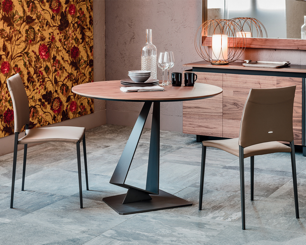 Roger Wood Round Dining Table