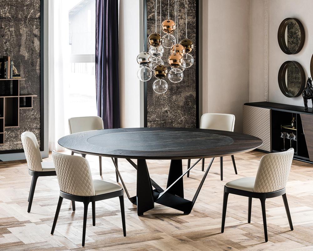 Skorpio Ker-Wood Round Dining Table