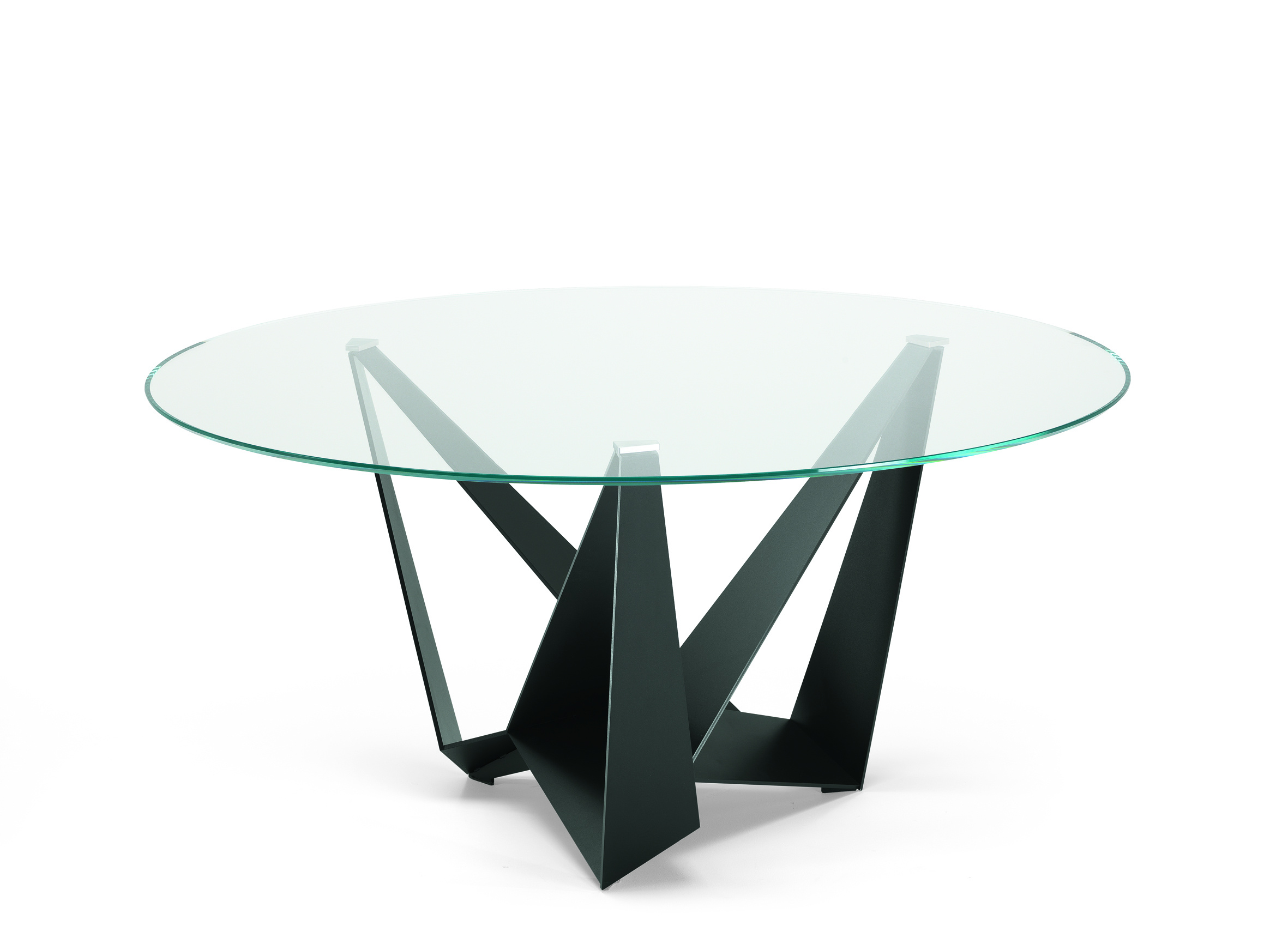 Skorpio Glass Round Dining Table