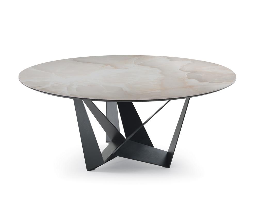 Skorpio Keramik Round Dining Table