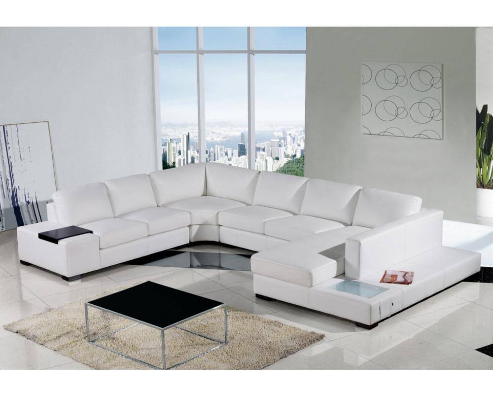 Spectrum Large Leather Corner Sofa