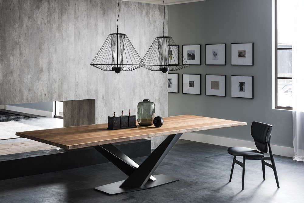 Stratos Wood Dining Table - S Version