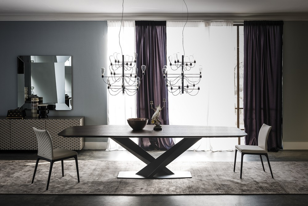 Stratos Wood Dining Table - Version B