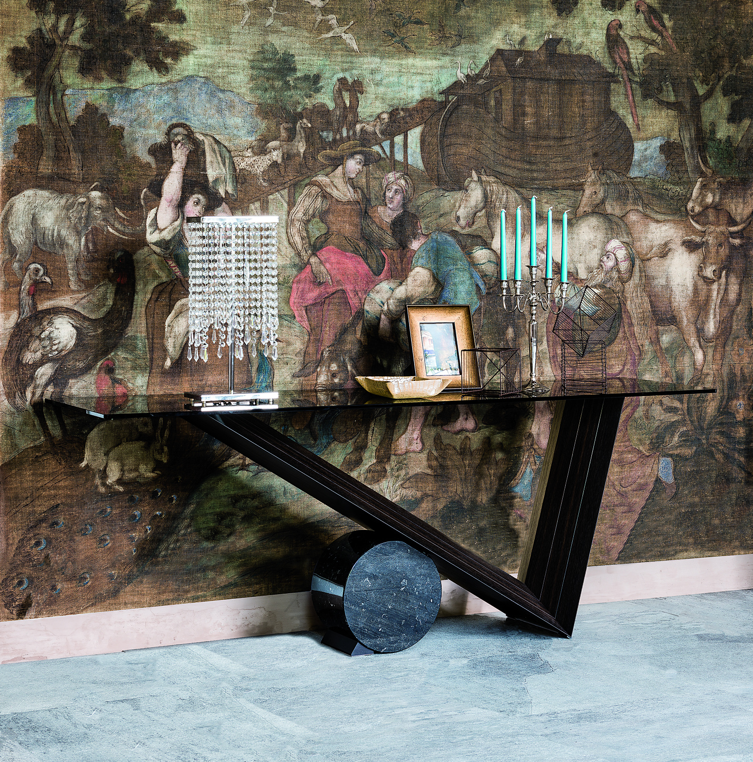 Valentino Glass Console Table