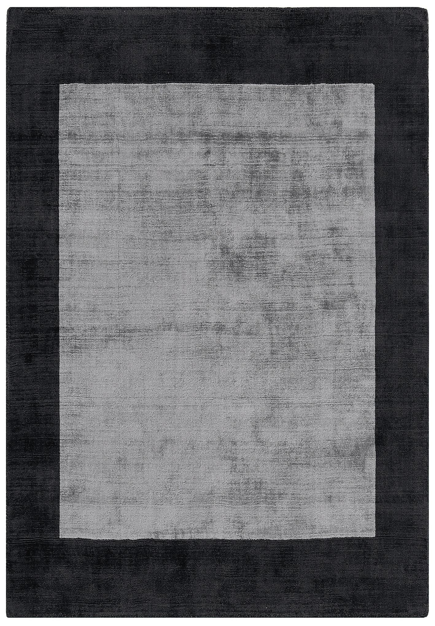 Vita Border Charcoal / Silver Rug