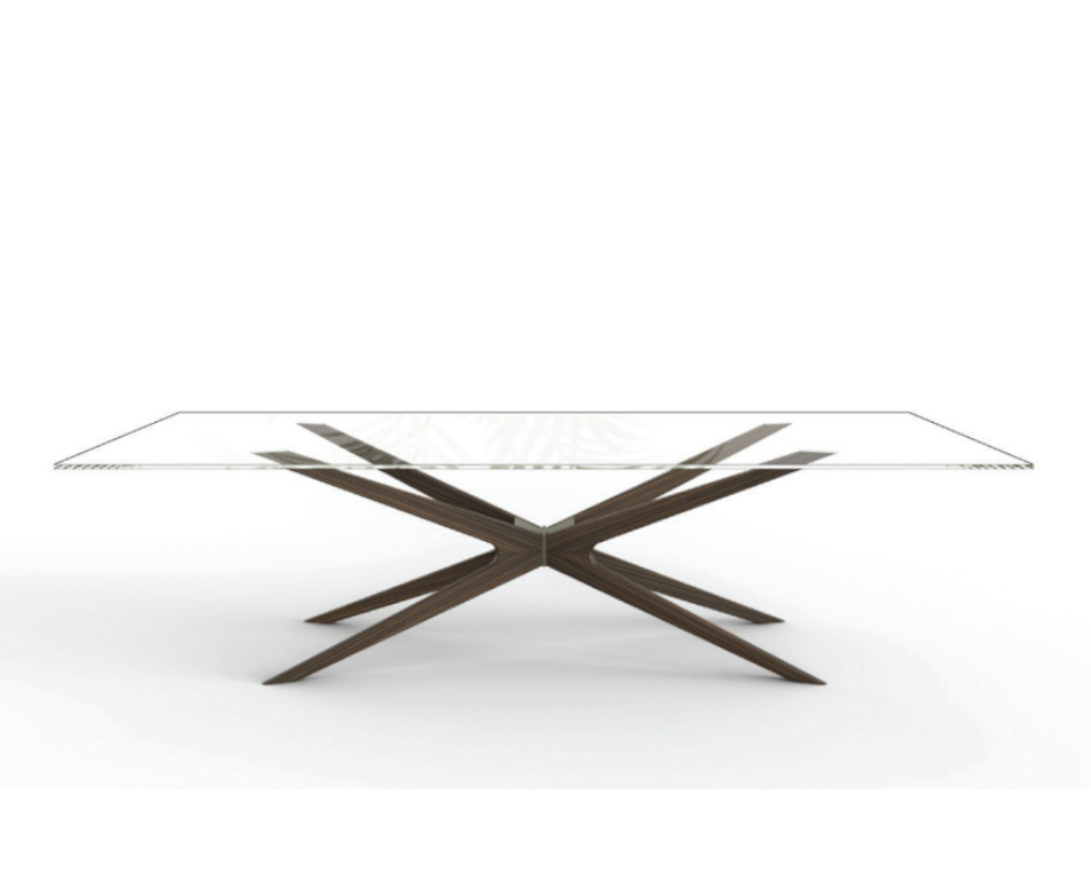 Web Dining Table Glass Top