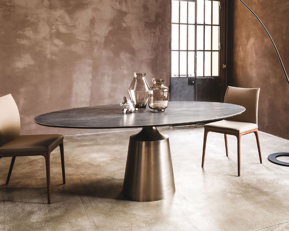 Yoda Keramik Oval Dining Table
