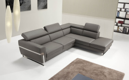 Michel Leather Corner Sofa