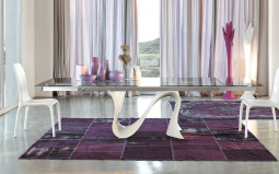 Snake Extending Dining Table - Glass Top