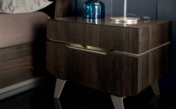 Accademia Nightstand Wooden Dark Oak