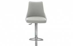 Clara Bar Stool with Chrome Swivel base
