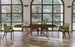 Bridge Barrel Wood Dining Table