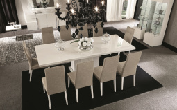 Canova Extending Dining Table - White High Gloss