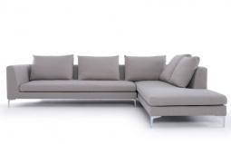 Charles Designer Fabric Corner Sofa