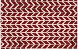 Arlo Chevron Red Rug