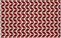 Arlo Chevron Red Rug