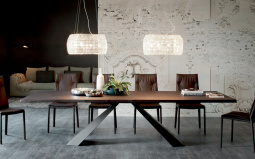 Edward Wood Dining Table - Lifestyle
