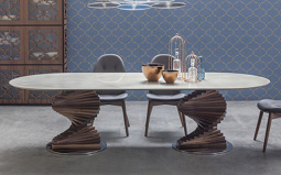 Spirio Large Dining Table - Canaletto Walnut Base - Lifestyle