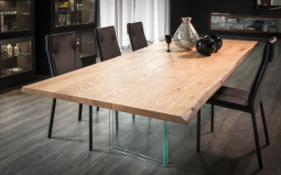 Ikon Wood Top Dining Table - Natural Oak Top