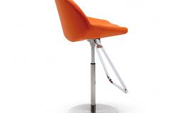 Kiss Bar Stool - Orange Leather