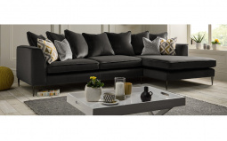 Lauren Pillow Back Fabric Corner Sofa