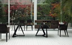 Millennium XXL Glass Dining Table
