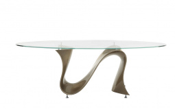 Snake Oval Dining Table - Oval Glass Top
