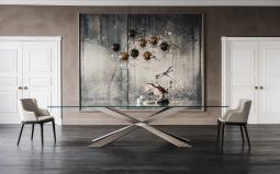 Spyder Bronze or Titanium Dining Table