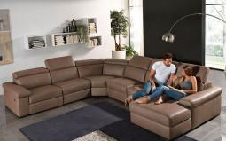 Valery Leather Corner Sofa